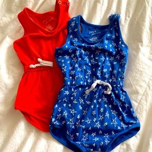EUC June and January romper bundle size 3/4 T